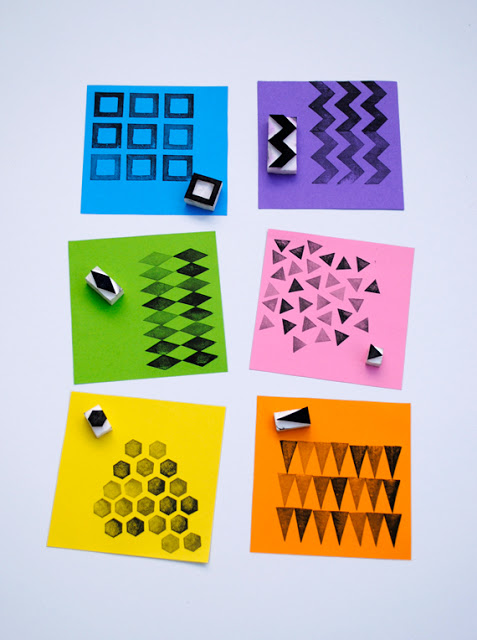 Make your own stamps diy ideas lines across