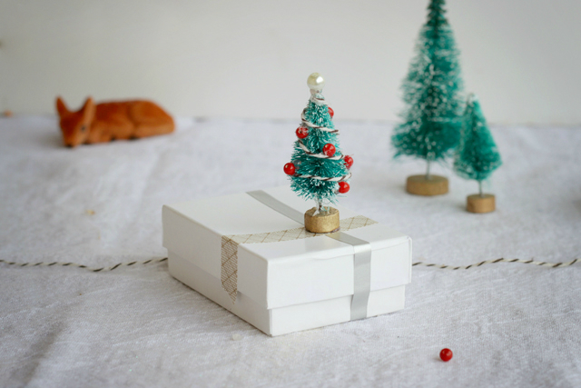miniature christmas tree ornaments lines across - Mini Christmas Tree Ornaments