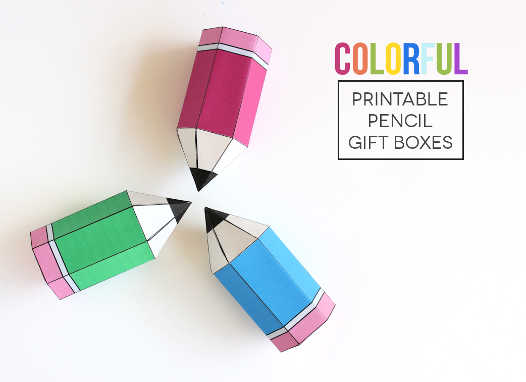 Colorful printable pencil gift boxes lines across negle Gallery