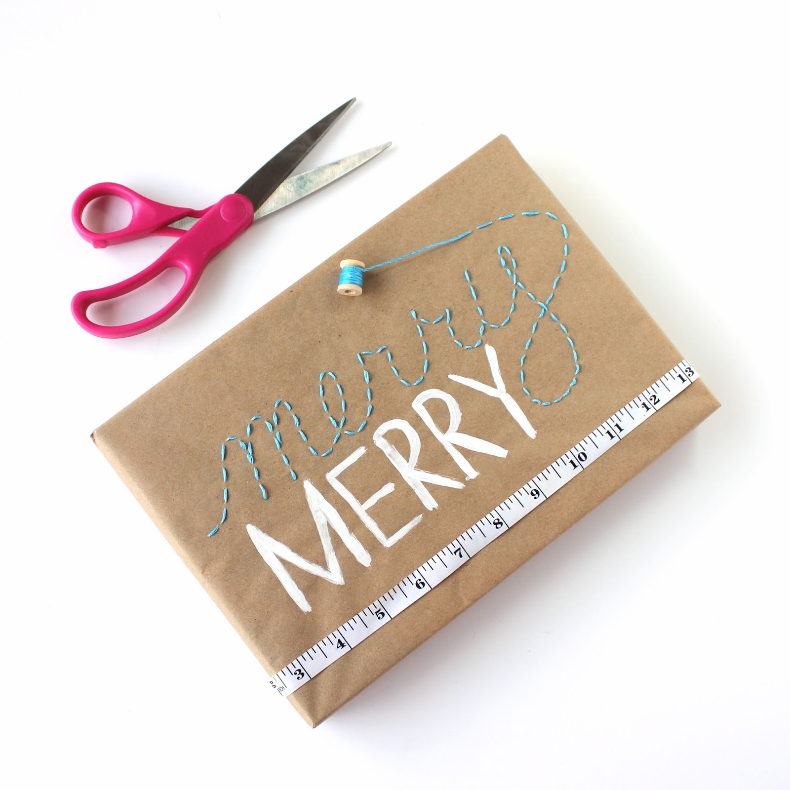 Embroidered Gift Wrap and 24 Kraft Paper Wrapping Ideas ...