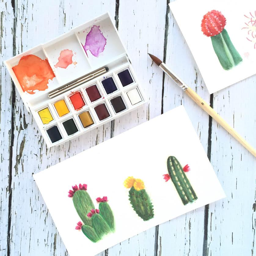 Watercolors for Beginners: Basic Supplies - Lines Across