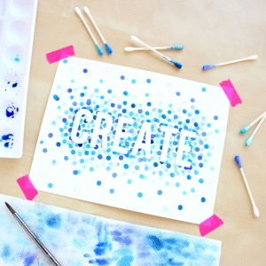 Watercolor for Beginners 4 – Polka Dot Art