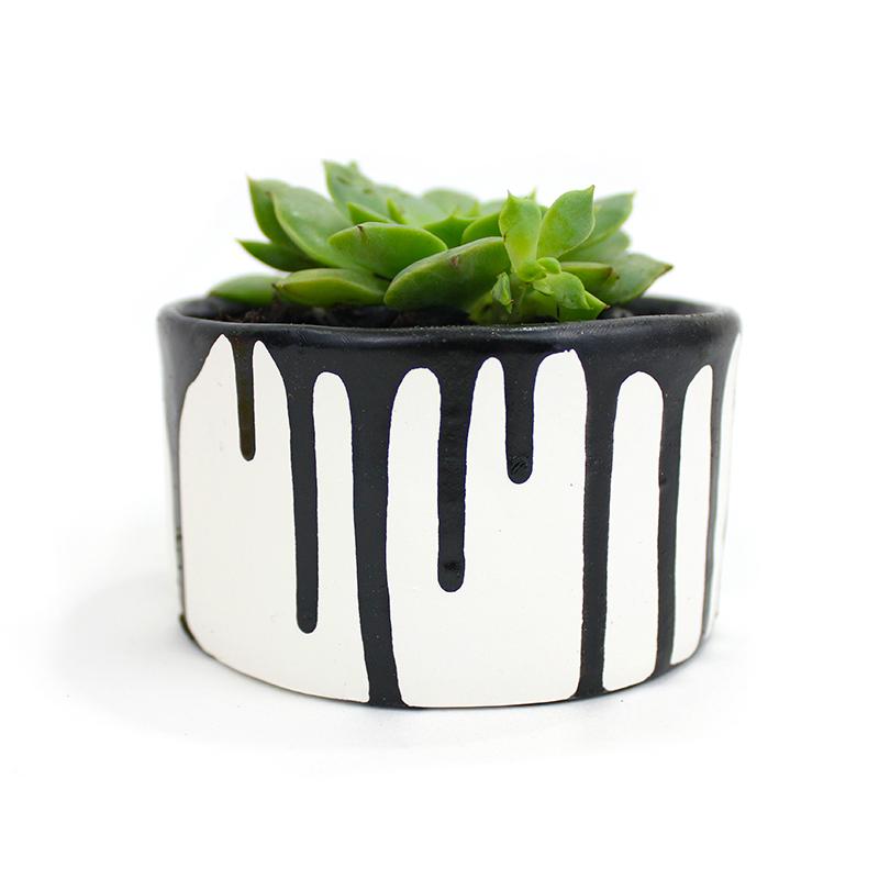 Paint Drip DIY Planters