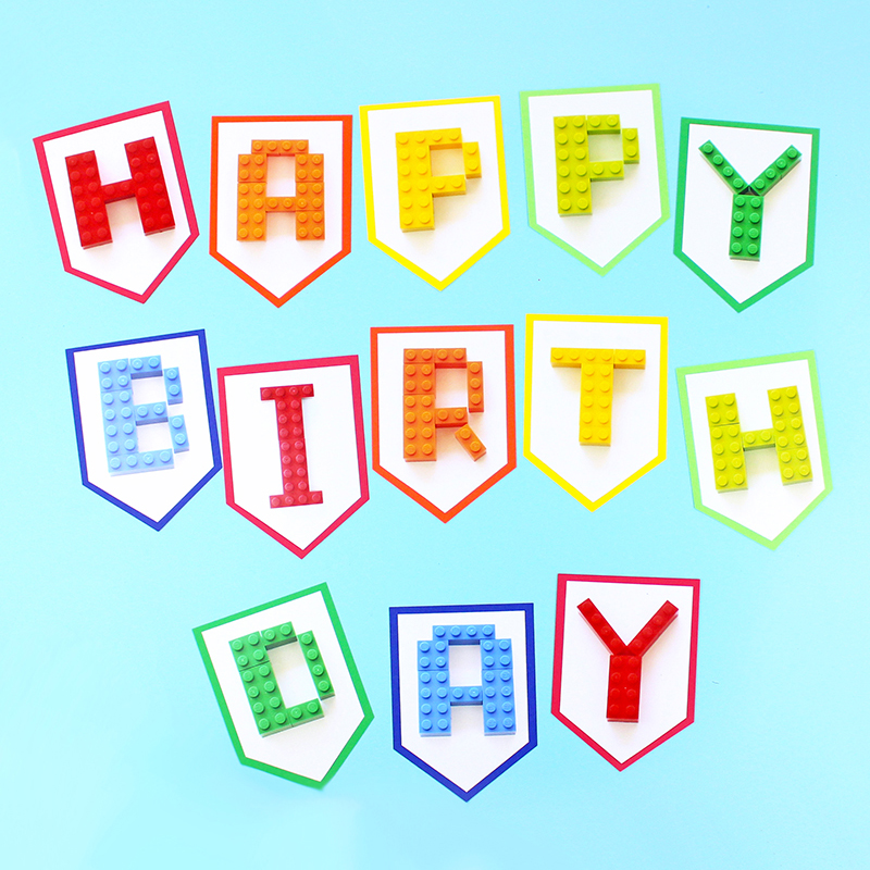 Building Block Birthday Party Banner