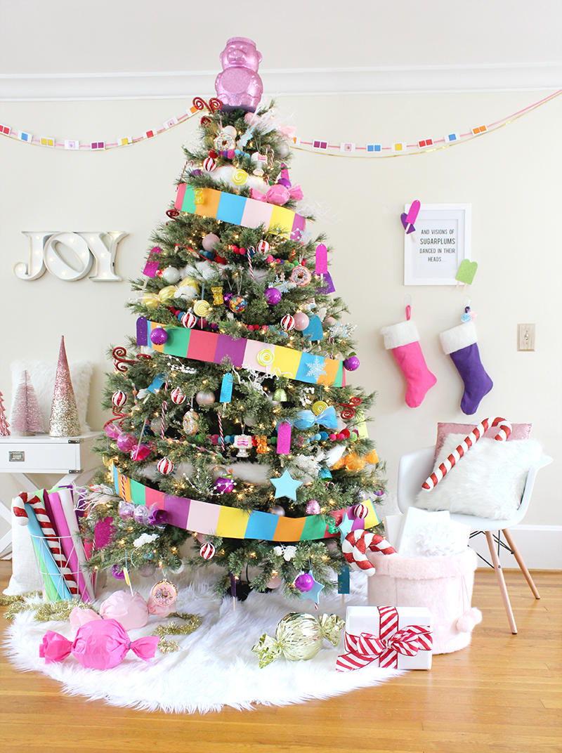 Candy Land Christmas Tree Lines Across