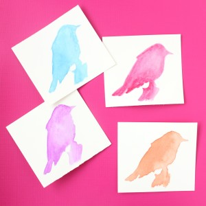 Watercolors for Beginners: Part 3 – Simple Silhouette Art