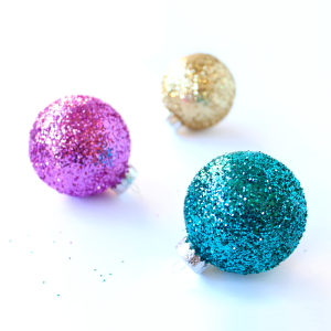 Glittery DIY Ornaments